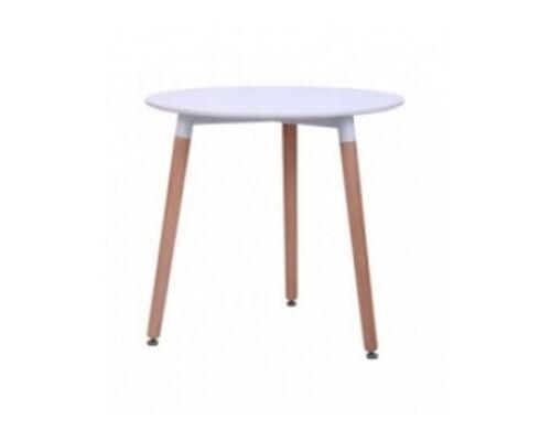 Стол обеденный круглый Trio d800*h75 см белый - Фото №1