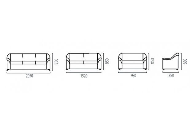 Диван Анабель трехместный искусственная кожа Неаполь (3 кат) - Фото №2