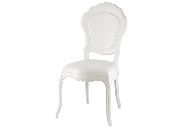 Стул пластиковый DAL SEGNO Belle Epoque solid white белый - Фото №1