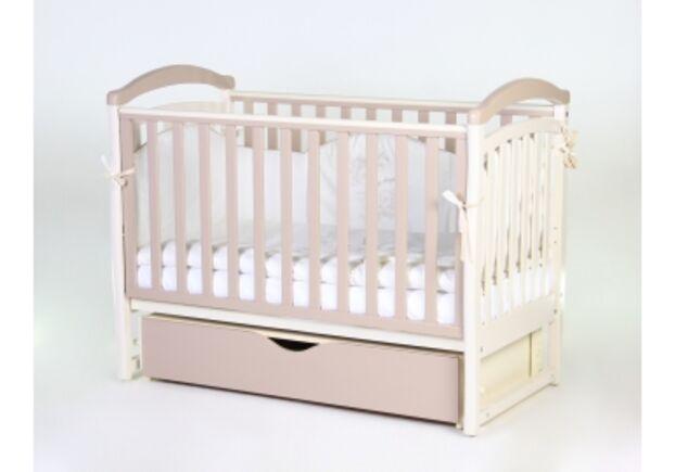 Детская кроватка Соня ЛД6 капучино маятник с ящиком   - Фото №1