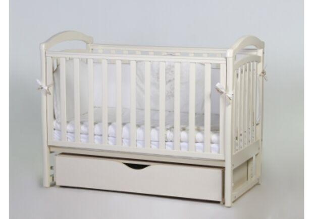 Детская кроватка Соня ЛД6 слоновая кость маятник с ящиком   - Фото №1