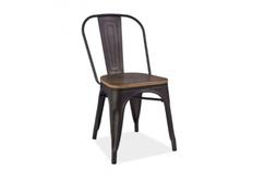 Кресло Loft Signal графит/сиденье темный орех