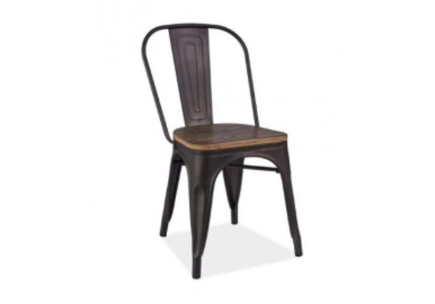 Кресло Loft Signal графит/сиденье темный орех - Фото №1