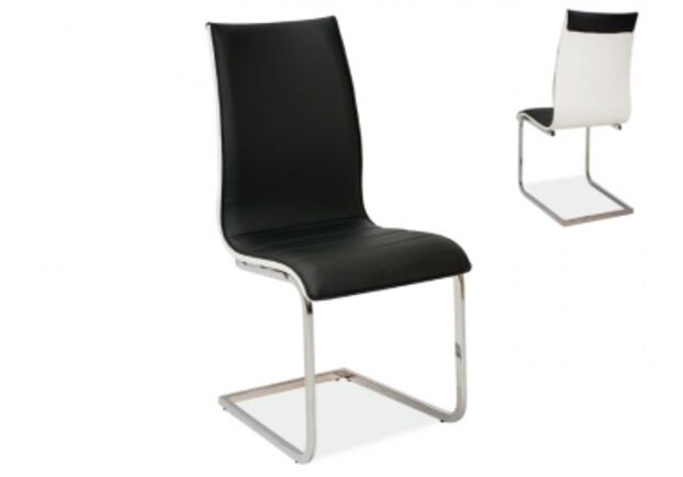 Кресло H-133 Signal хром/ черный с белым - Фото №1