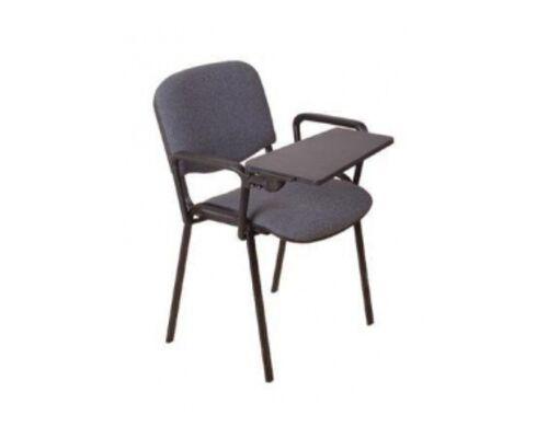 Стул ISO black ткань C c двумя подлокотниками и столиком - Фото №1