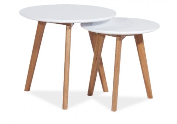 Набор из двух столиков Milan S2 Signal дуб/белый - Фото №1