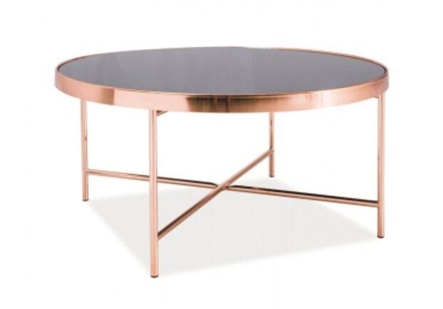 Кофейный круглый стол Gina B Signal d82*h40 черный/медь - Фото №1