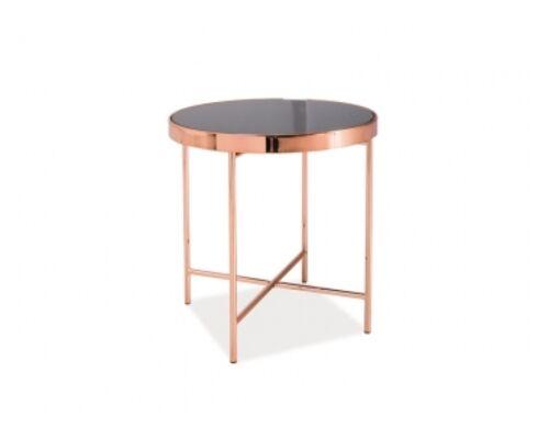 Кофейный столик Gina С Signal d43*h45 черный/медь - Фото №1