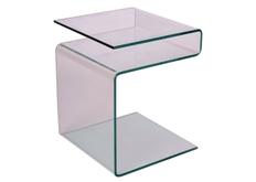 Кофейный столик Epi Signal 42*38*h48 стекло прозрачное