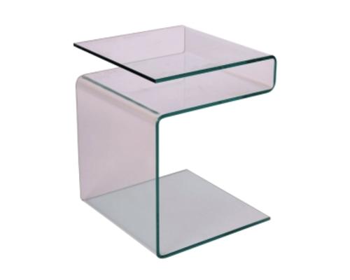 Кофейный столик Epi Signal 42*38*h48 стекло прозрачное - Фото №1