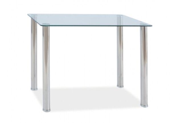 Стол стеклянный Ted Signal 100*60*h75 см прозрачный/хром - Фото №1