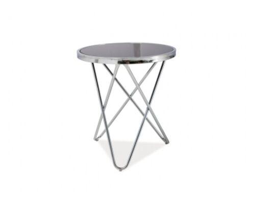 Круглый кофейный столик Fabia С Signal d50*h50 черный/хром - Фото №1