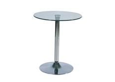 Стол барный B-100 Signal d60*h72см стекло прозрачное/хром