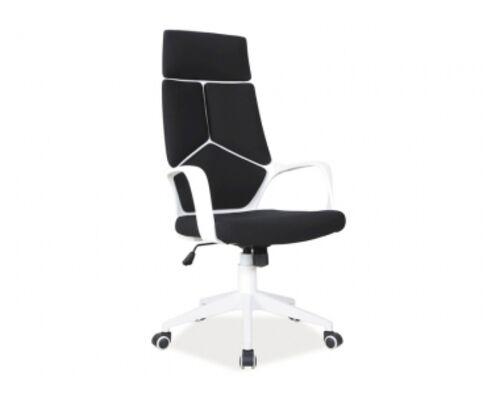 Кресло Q-199 Signal механизм Tilt ткань мембранная черная/белые вставки - Фото №1