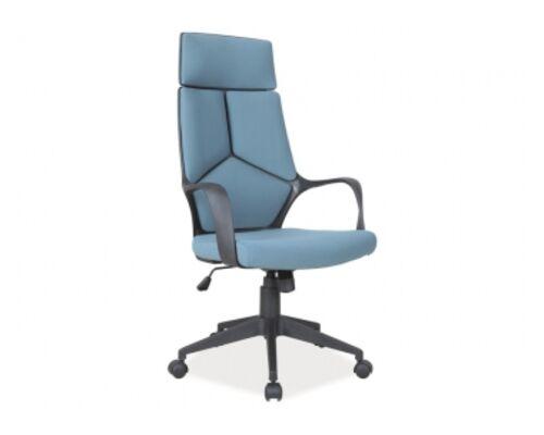 Кресло Q-199 Signal механизм Tilt ткань мембранная синяя/вставки черные - Фото №1