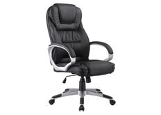 Кресло для руководителя Q-031 Signal хром механизм Tilt экокожа черная