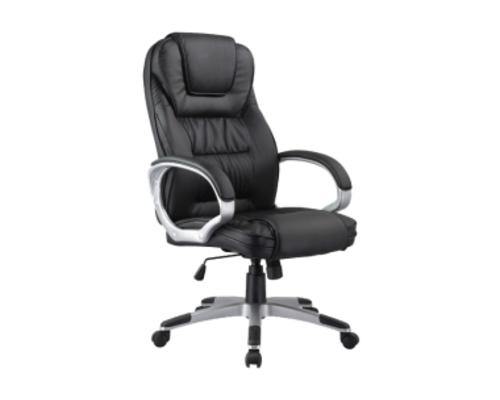 Кресло для руководителя Q-031 Signal хром механизм Tilt экокожа черная - Фото №1