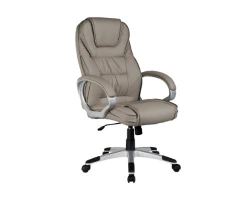 Кресло для руководителя Q-031 Signal хром механизм Tilt экокожа серая - Фото №1