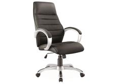 Кресло для руководителя Q-046 Signal хром механизм Tilt экокожа черная