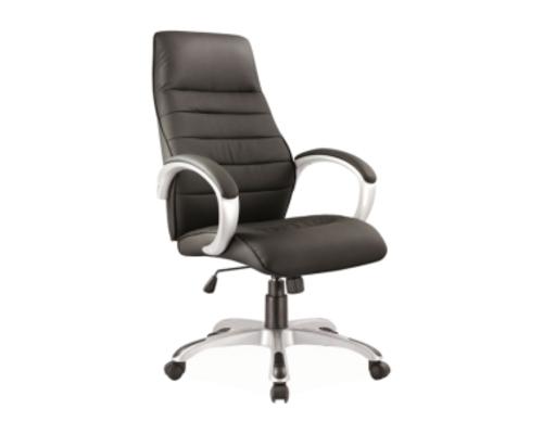 Кресло для руководителя Q-046 Signal хром механизм Tilt экокожа черная - Фото №1
