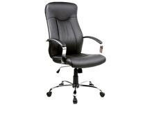 Кресло для руководителя Q-052 Signal хром механизм Tilt экокожа черная