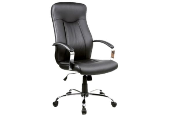 Кресло для руководителя Q-052 Signal хром механизм Tilt экокожа черная - Фото №1