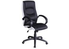 Кресло офисное Q-041 Signal механизм Tilt экокожа/ткань мембранная черно-белое