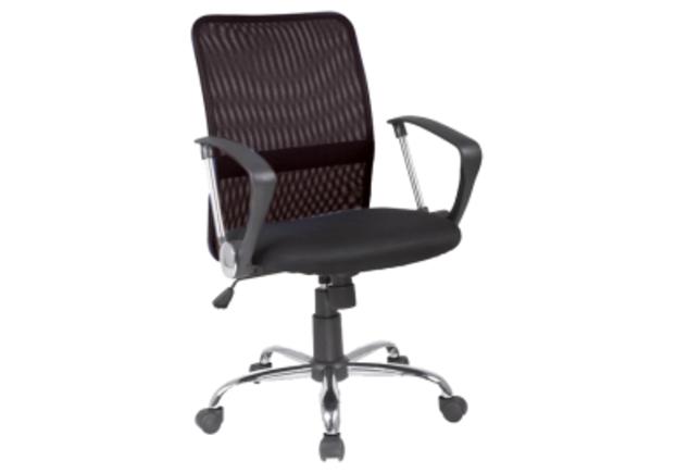 Кресло Q-078 Signal сиденье ткань мембранная черная/спинка сетка черная - Фото №1