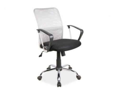 Кресло Q-078 Signal сиденье ткань мембранная черная/спинка сетка серая - Фото №1