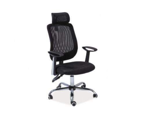 Кресло Q-118 Signal Мультиблок сиденье ткань мембранная черная/спинка сетка черная  - Фото №1
