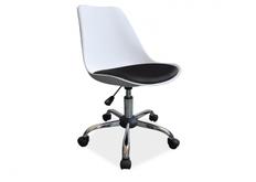 Кресло Q-777 Signal хром пластик белый/сиденье экокожа черная