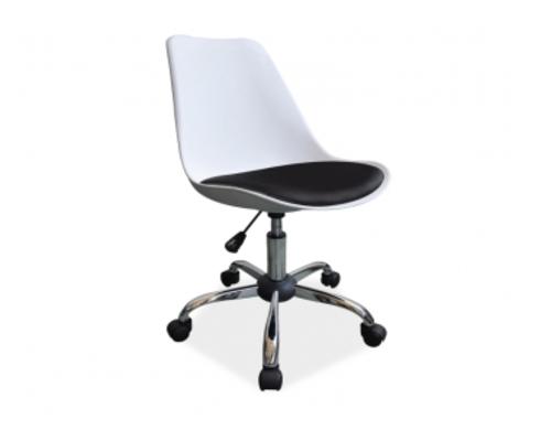 Кресло Q-777 Signal хром пластик белый/сиденье экокожа черная - Фото №1