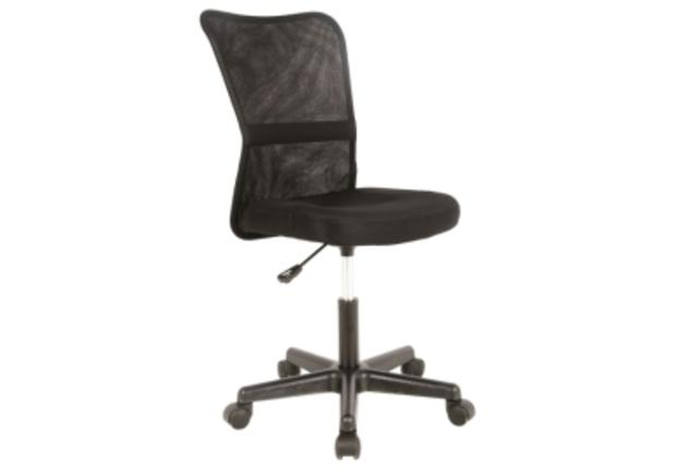 Кресло Q-121 Signal сиденье ткань мембранная черная/спинка сетка чернаяя - Фото №1