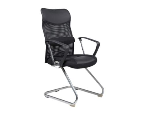 Кресло Q-030 Signal хром/ткань мембранная черная/спинка сетка черная - Фото №1