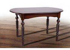 Стол обеденный Бруно 1290(+340)*740 темный орех
