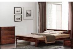 Кровать из массива ольхи Ольга 140x200 см орех