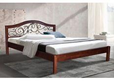 Кровать Илона 180x200 см массив ольхи/каштан