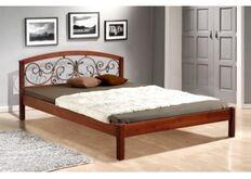 Кровать Джульетта 140x200 см массив ольхи/орех темный