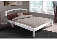 Кровать Джульетта 140x200 см массив ольхи/белая