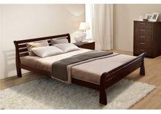 Кровать Ретро 160x200 см массив ольхи/орех темный