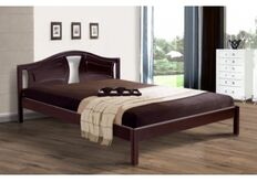 Кровать Марго 140x200 см массив ольхи/орех темный
