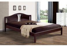Кровать Марго 180x200 см массив ольхи/орех темный