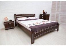 Кровать Пальмира 1600*2000  темный орех/патина серебро