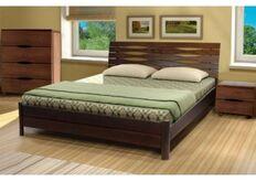 Кровать Мария 140x200 см орех темный