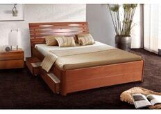 Кровать Мария Люкс с ящиками 140*200 см массив бука