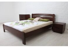 Кровать Каролина без изножья 160x200 см темный орех