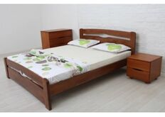 Кровать Каролина с изножьем 180x200 см темный орех