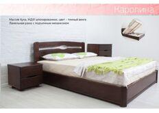 Кровать Каролина с подъемным механизмом 140x200 см темный орех