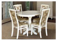 Стол обеденный Чумак-2 800(+300)*800  слоновая кость