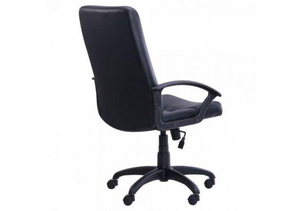 Кресло Менеджер Пластик кожа Сплит черная - Фото №2